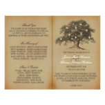 Vintage Old Oak Tree Wedding Collection - Program 21.5 Cm X 28 Cm Flyer