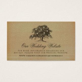 Vintage Old Oak Tree Wedding Website