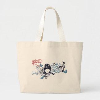vintage old oldies rock stars Glamour Girl Jumbo Tote Bag
