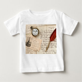Vintage Old Paper Pen Watch Writing Stamp Postcard Tshirt