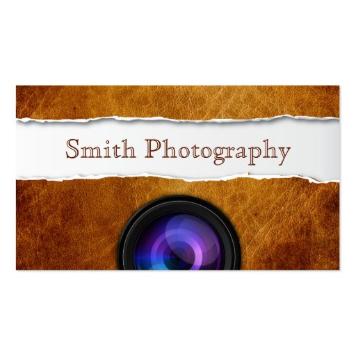 Vintage Old Paper Photography Business Card