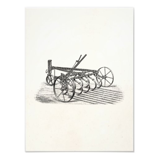 Vintage Old Plows Farm Equipment Agriculture Plow Photo Print