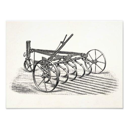 Vintage Old Plows Farm Equipment Agriculture Plow Art Photo