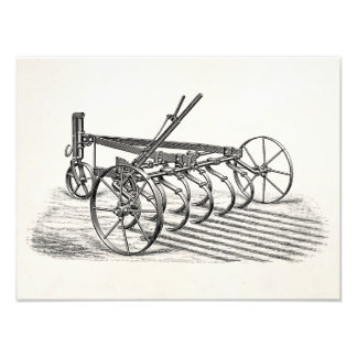 Vintage Old Plows Farm Equipment Agriculture Plow Photographic Print