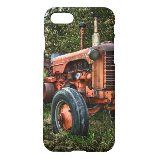 Vintage old red tractor iPhone 7 case