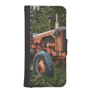 Vintage old red tractor iPhone SE/5/5s wallet case