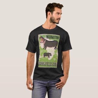 Vintage Old School t-shirt hippopotamus Zoo WPA