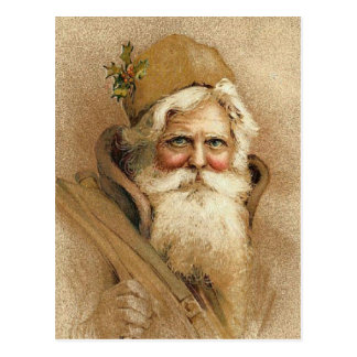 Vintage Old St. Nick Christmas Postcard