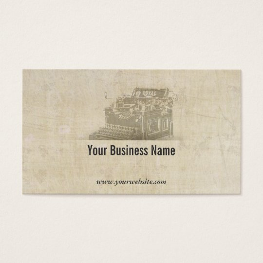 Vintage Old Typewriter Business Card