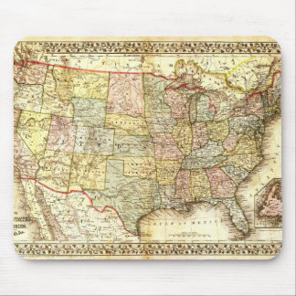 Vintage Old United States USA General Map Mouse Mat