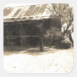 Vintage Old West Cabin Sticker