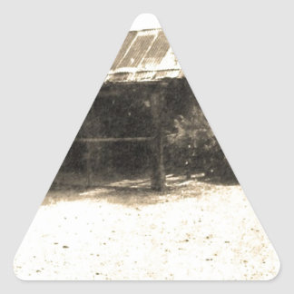 Vintage Old West Cabin Triangle Sticker