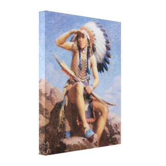 Vintage Old West The Scout 1922 Wrapped Canvas Art