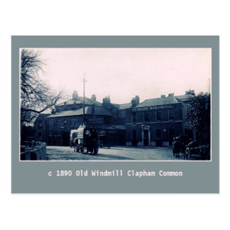 vintage Old Windmill pub Clapham Common Postcard