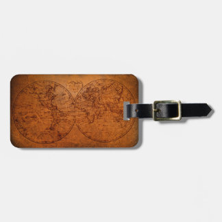 Vintage Old World Antique Map Personalized Luggage Tag