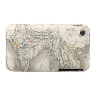 Vintage old world India Indian map print cool Case-Mate iPhone 3 Cases