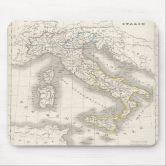 Vintage old world Italy map Mouse Pads