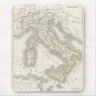 Vintage old world Italy map Mouse Pad