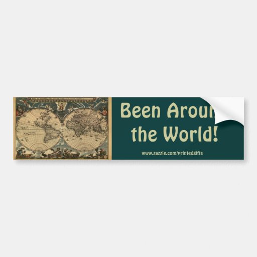 Vintage Old World Map Collection Bumper Stickers