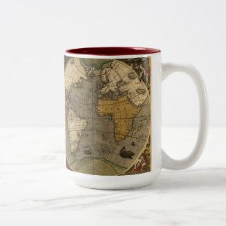 Vintage Old World Map Collectors Drinking Mug