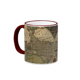 Vintage Old World Map Collectors Mug
