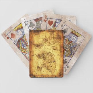 Vintage Old World Map Designer Set Poker Deck