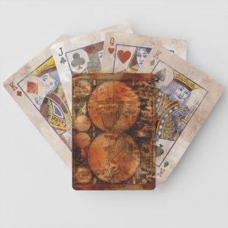 Vintage Old World Map Designer Set Deck Of Cards