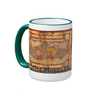 Vintage Old World Map Driver s Drinking Mug