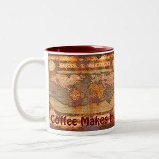 Vintage Old World Map Fun Drinking Mug