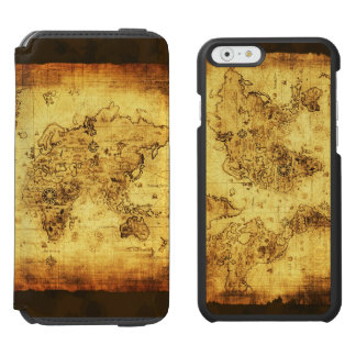 Vintage Old World Map History-buff Designer Incipio Watson™ iPhone 6 Wallet Case