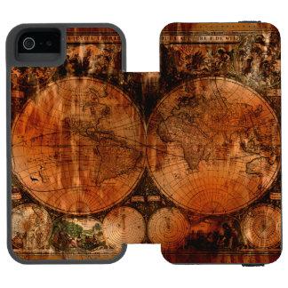 Vintage Old World Map History-buff Designer Incipio Watson™ iPhone 5 Wallet Case