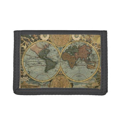 vintage old world map history