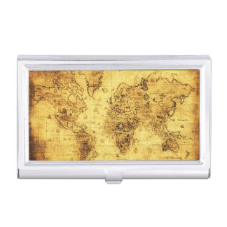 Vintage Old World Map History-lover Business Card Case