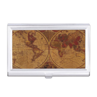 Vintage Old World Map History-lover Business Card Holders