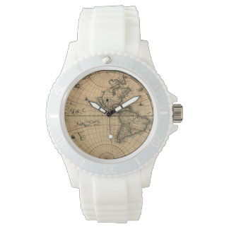 Vintage Old World Map History-lover Design Watches