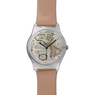 Vintage Old World Map History-lover designer Watch