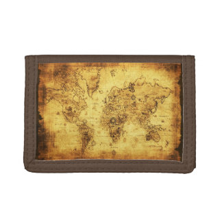 Vintage Old World Map History-lover's Gift Trifold Wallet