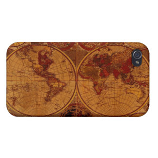 Vintage Old World Map iPhone 4 Savvy Case Covers For iPhone 4