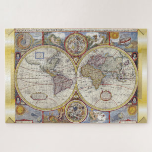 Old world map jigsaw puzzles zazzle vintage old world map jigsaw puzzle gumiabroncs