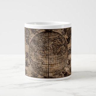 Vintage Old World Map Large Coffee Mug