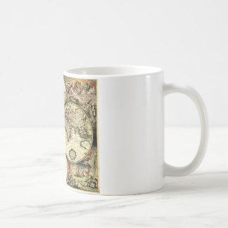Vintage Old World Map Coffee Mugs