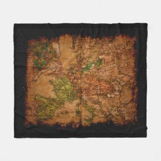 Vintage Old World Map of Europe 1740 Fleece Blanket