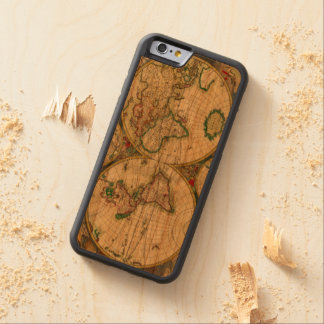 Vintage old world Maps Antique map Cherry iPhone 6 Bumper