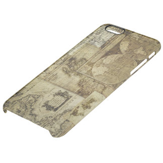 Vintage old world Maps Antique map Clear iPhone 6 Plus Case