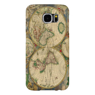 Vintage old world Maps Antique map Samsung Galaxy S6 Cases