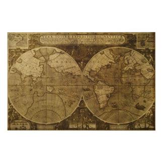 Vintage old world Maps Antique maps Wood Canvases