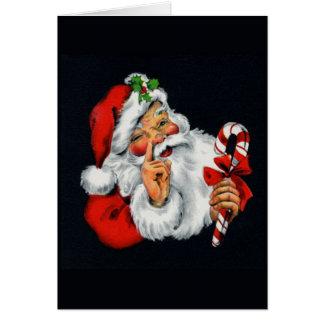 Vintage Old World Santa Claus Christmas Card