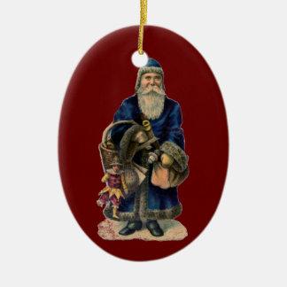 Vintage Old World Santa Claus Christmas Ornament