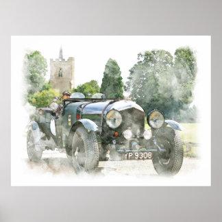 Vintage Oldtime Automobile Poster