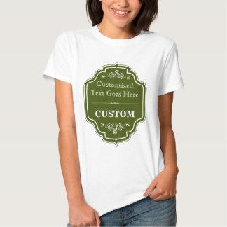 Vintage Olive Green Label T Shirt
